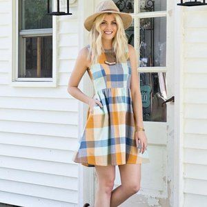 Mata Traders Dilly Dally Dress in Plaid
